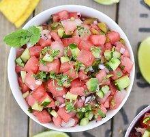 Gaivi arbūzų salsa su mėtomis