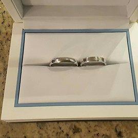 Annos ir Vladimiro Orechovų vestuviniai žiedai