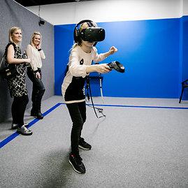 Asmeninė nuotr./Virtualios realybės renginio akimirka