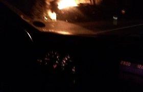 Panevėžio rajone ugnis prarijo pakelės kavinę