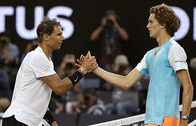 """Australian Open"" apžvalga: R.Nadalio trileris, M.Raoničaus kova su gripu ir lankomumo rekordas"