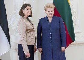 Prezidentė priėmė Estijos ambasadorės Janos Vanaveski skiriamuosius raštus