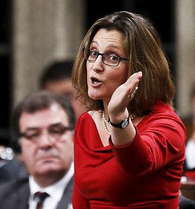"""ES yra """"nepajėgi"""" sudaryti tarptautinį susitarimą, sako Kanados ministrė"""