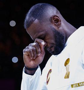 Mindaugo Kuzminsko NBA startas: pareiškimas treneriui ir LeBrono ašaros