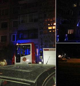 Kauno daugiabutyje – gaisras, nukentėjo žmonės