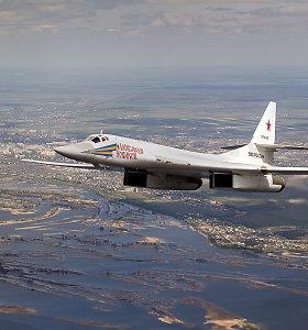 Rusija tęsia provokacijas: bombonešis praskriejo pro Islandijos keleivinį lėktuvą