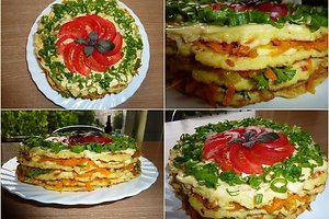 Cukinijų blynų tortas (Helenos J. receptas)
