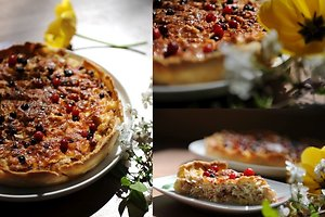 Pyragas su kopūstais ir spanguolėmis (Neringos L. receptas)