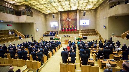 Atsisveikindama Seimo pirmininkė apgailestavo, kad nepavyko sumažinti parlamentarų skaičiaus