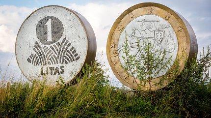 Ar žinote, kur Lietuvoje yra paminklas litui ir eurui?