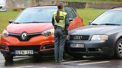 Olandų gatvėje Vilniuje – nedidelė avarija