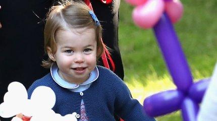 Princas George'as ir princesė Charlotte kariškių šeimoms surengtoje šventėje