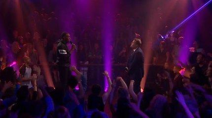 Usainas Boltas su TV žvaigžde susirėmė šmaikščioje repo dvikovoje