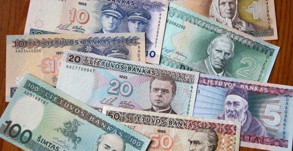 Gyventojai į eurus neiškeitė beveik pusės milijardo litų
