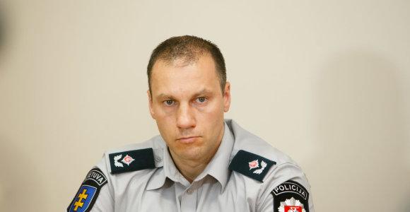 Generalinis komisaras Linas Pernavas: Marijampolėje sulaikant įtariamąjį, jo ginklas buvo užtaisytas