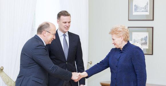 Gabrielius Landsbergis po susitikimo su prezidente sako, kad konservatoriai atviri derėtis