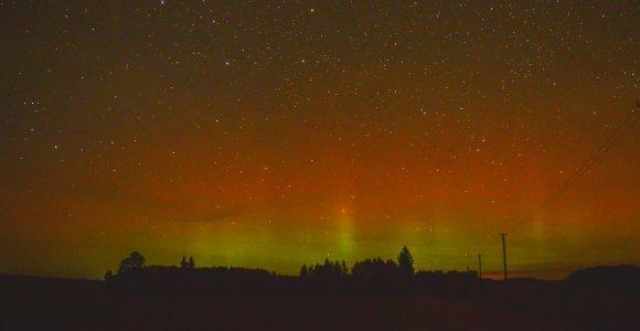 Saulės vėjas Lietuvos gyventojams suteikė progą grožėtis retu astronominiu reiškiniu