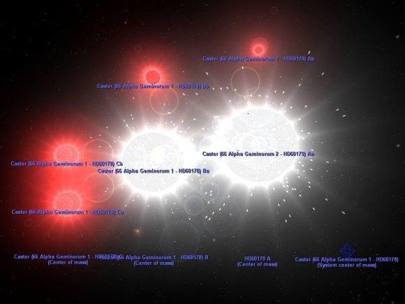 Lietuvos etnokosmologijos muziejaus iliustr./Nr.18. Sudetinga sesianare Kastoro zvaigzdziu sistema_Astroeducation.com