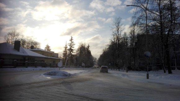 Skaitytojų nuotr. /Tvirtovės gatvė sankryža su Skardžio gatve