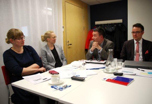 Sauliaus Chadasevičiaus / 15min nuotr./Iš kairės: Maria Swanljung, Venla Roth,  Jari Kähkönenas, Veli-Pekka Rautava