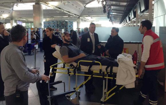 """""""Scanpix""""/AP nuotr./Per išpuolį sužeistas amerikietis Jake'as Raakas"""