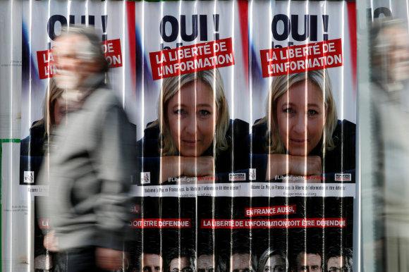 """""""Reuters""""/""""Scanpix"""" nuotr./Marine Le Pen turėtų patekti į antrąjį rinkimų turą"""