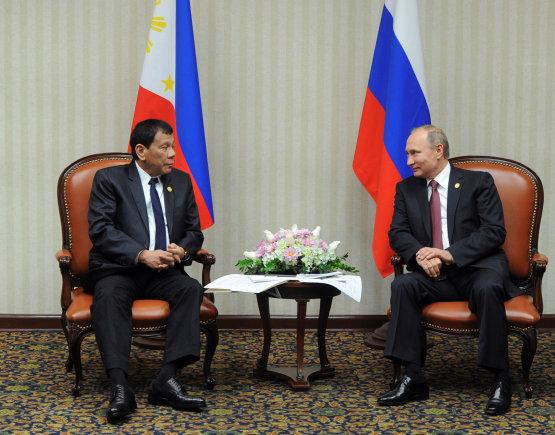 """""""Reuters""""/""""Scanpix"""" nuotr./R.Duterte ir  V.Putinas"""