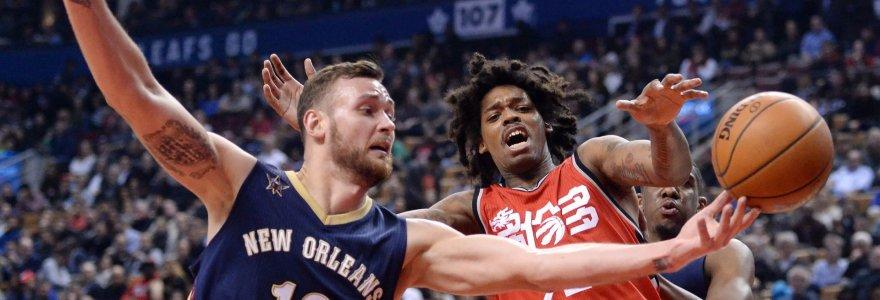 """Iš """"Pelicans"""" trenerio lūpų – perspėjimas dėl Donato Motiejūno"""