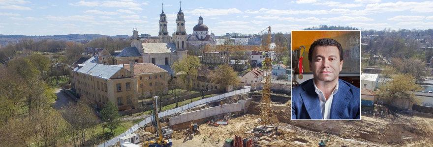 Gruzinų milijardieriaus statybos prie Misionierių vienuolyno gali užstrigti: daugėja protesto balsų