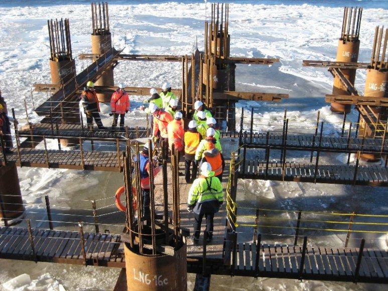 Pradėti būsimojo SGD terminalo Kiaulės Nugaros saloje betonavimo darbai.