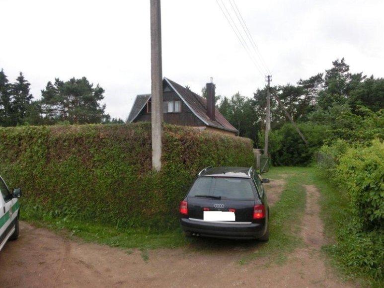 Surastas automobilis