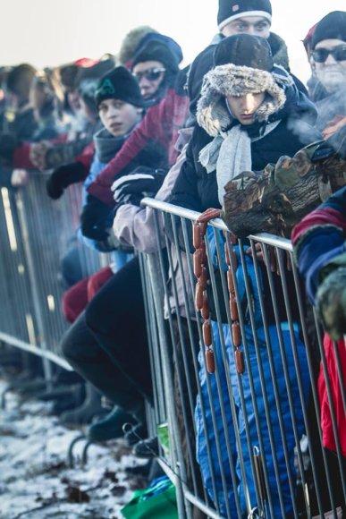 """""""Halls Winter Rally"""" žiūrovai"""