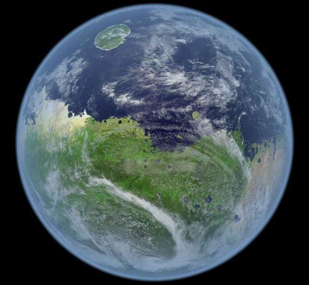 Taip galėtų atrodyti gyvybei tinkamas Marsas.