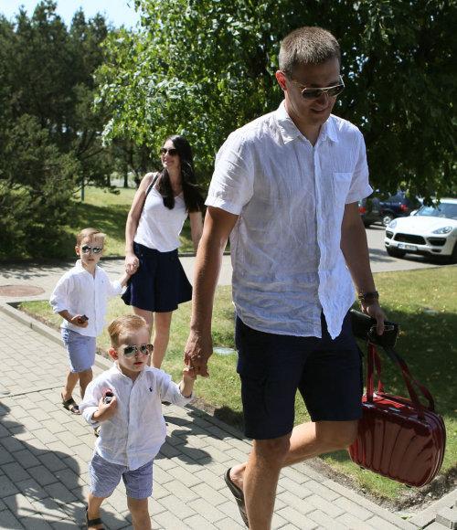 Paulius Jankūnas su sūnumi Adomu