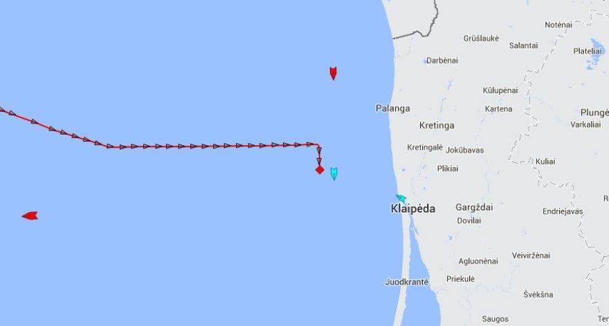 SGD laivas-saugykla dreifuoja