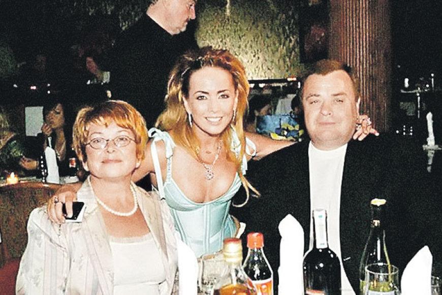 Žana Friskė su motina Olga ir tėvu Vladimiru