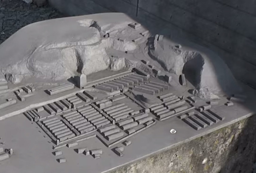 Slaptos nacių gamyklos maketas