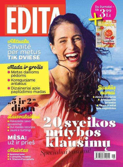 """Žrnalo """"Edita"""" birželio mėnesio numeris"""