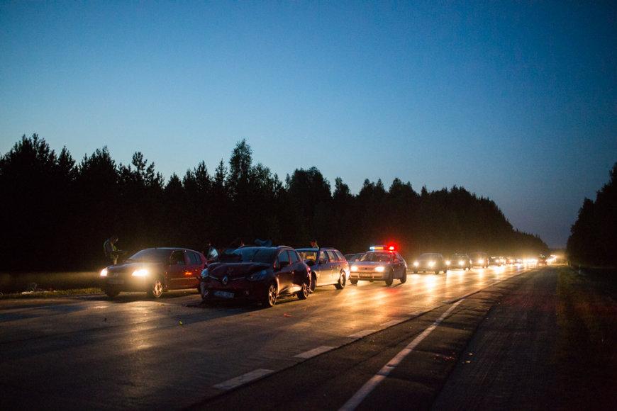 Sekmadienio vakarą Vilniaus rajone – masinė avarija
