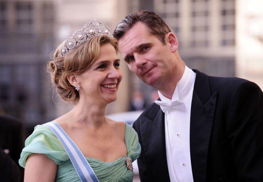 Ispanijos princesė Cristina su vyru Inakiu Urdangarinu