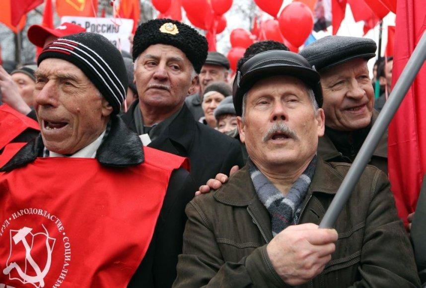 Komunistų mitingas Maskvoje