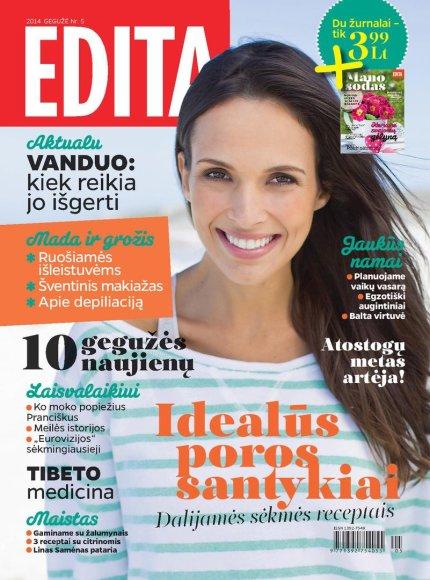 """Žurnalo """"Edita"""" gegužės mėnesio viršelis"""