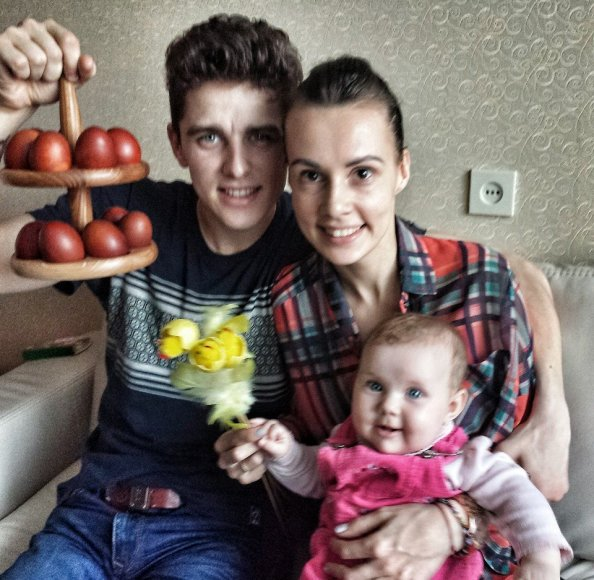 Donatas Motvydas su šeima
