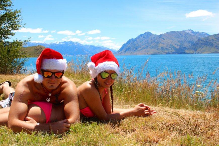 Bikinio porelė Rolanda ir Vilhelmas Naujojoje Zelandijoje