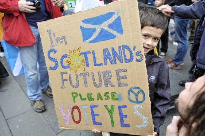 Rugsėjį škotai balsuos dėl nepriklausomybės