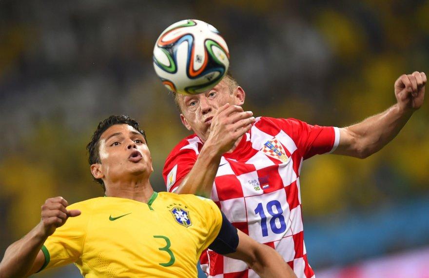 Thiago Silva ir Ivica Oličius