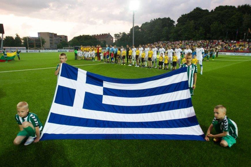 Lietuvos ir Graikijos futbolo rinktinių dvikova