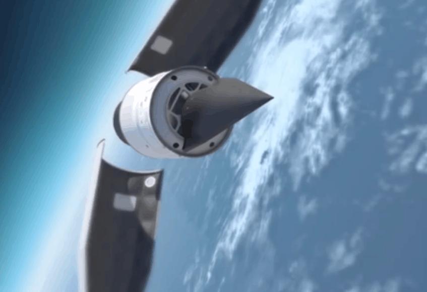 Taip atrodo JAV viršgarsinis ginklas Falcon Hypersonic Technology Vehicle 2 (HTV-2) menininko akimis