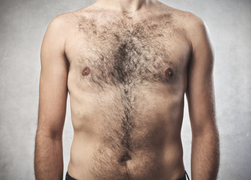 Plaukuota krūtinė