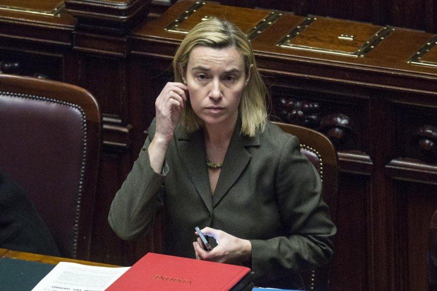 Italijos užsienio reikalų ministrė Federica Mogherini